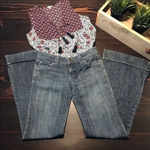 Anthropologie flare jeans, level 99